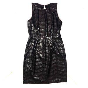 BCBGMaxAzria Little Black Dress With Sequence